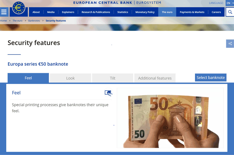 Europa series €50 banknote