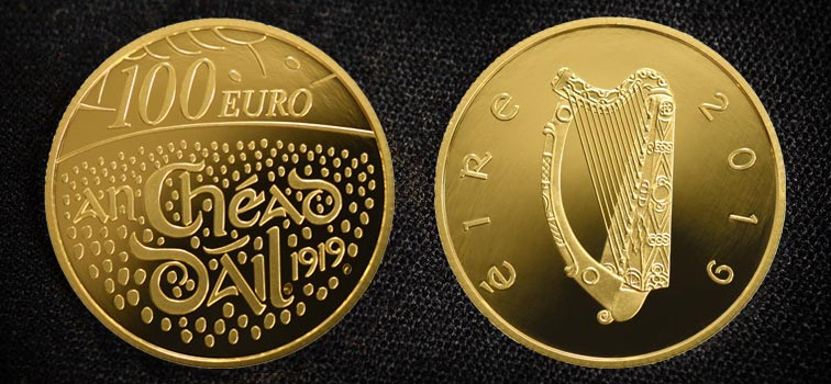 100 Years Dail Coin - 100 Euro Coin