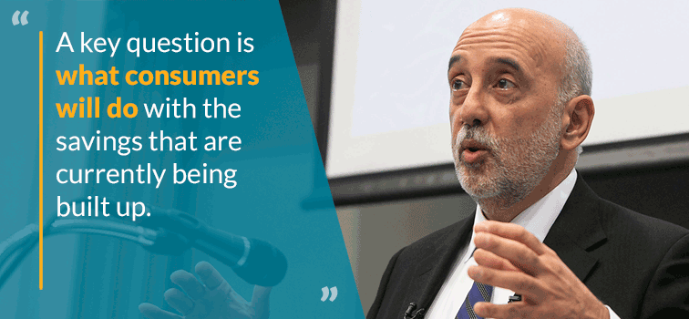 A key question is what consumers will do with savings that are currently being built up - Gabriel Makhlouf