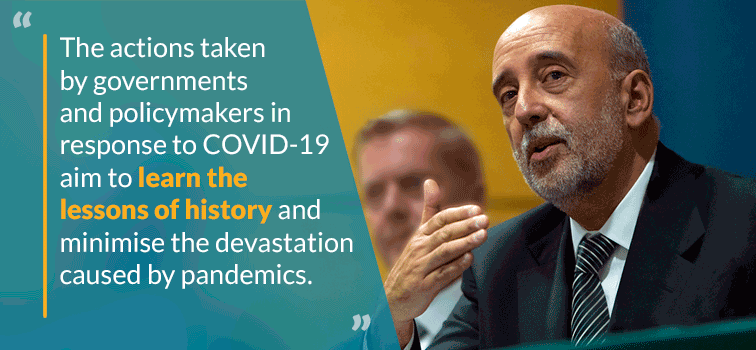 Governor Gabriel Makhlouf - The actions taken by governments and policymakers in response to COVID-19 aim to learn the lesson of history